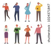 various youth character. hand... | Shutterstock .eps vector #1024371847