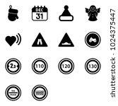 solid vector icon set  ...   Shutterstock .eps vector #1024375447