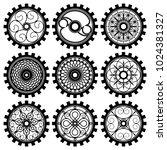 the steampunk gears | Shutterstock .eps vector #1024381327