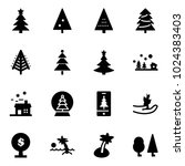 solid vector icon set  ... | Shutterstock .eps vector #1024383403