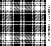 black and white plaid pattern | Shutterstock .eps vector #102438517
