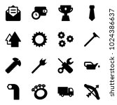 solid vector icon set   opened... | Shutterstock .eps vector #1024386637