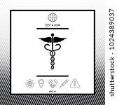 caduceus medical symbol | Shutterstock .eps vector #1024389037