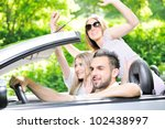 friends in a car | Shutterstock . vector #102438997