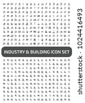 industrial and factory icon set | Shutterstock .eps vector #1024416493