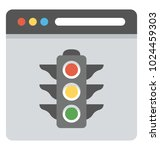 a website with traffic lights ... | Shutterstock .eps vector #1024459303