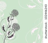 elegant floral background ... | Shutterstock .eps vector #102446243