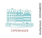 copenhagen denmark  nordic... | Shutterstock .eps vector #1024468033