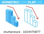 the fall graph. isometric flat... | Shutterstock .eps vector #1024470877