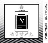 electrocardiogram symbol icon   Shutterstock .eps vector #1024492357