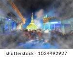 abstract scene of smoke...   Shutterstock . vector #1024492927