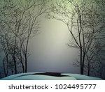 first spring sun ray  spring... | Shutterstock .eps vector #1024495777