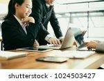 business people meeting... | Shutterstock . vector #1024503427