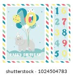 birthday party invitation card  ... | Shutterstock .eps vector #1024504783