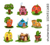 cartoon set of fairy tale... | Shutterstock .eps vector #1024511683