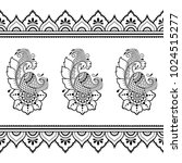 henna tattoo flower template... | Shutterstock .eps vector #1024515277