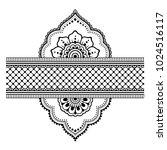 henna tattoo flower template... | Shutterstock .eps vector #1024516117