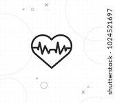 heart rhythm icon  vector best... | Shutterstock .eps vector #1024521697