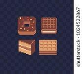 sweet food pixel art icon set ... | Shutterstock .eps vector #1024522867