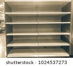 empty shelves at grocery store...   Shutterstock . vector #1024537273