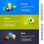success vision and ideas... | Shutterstock .eps vector #1024553767