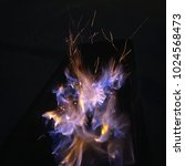 cold fire in the darkness.... | Shutterstock . vector #1024568473