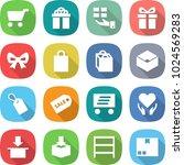 flat vector icon set   cart... | Shutterstock .eps vector #1024569283