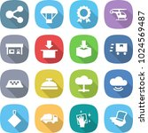 flat vector icon set   share... | Shutterstock .eps vector #1024569487