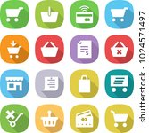 flat vector icon set   cart... | Shutterstock .eps vector #1024571497