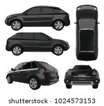 compact city crossover black... | Shutterstock . vector #1024573153