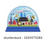 south korea famous tourist... | Shutterstock .eps vector #1024575283