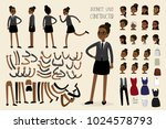 african american businesswoman... | Shutterstock .eps vector #1024578793
