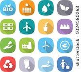 flat vector icon set   bio... | Shutterstock .eps vector #1024580263