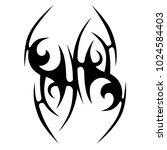 tattoo tribal vector design. | Shutterstock .eps vector #1024584403