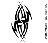tattoo tribal vector design. | Shutterstock .eps vector #1024584427