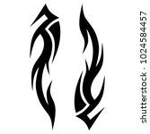 tattoo tribal vector design. | Shutterstock .eps vector #1024584457