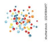 vector confetti background... | Shutterstock .eps vector #1024584697