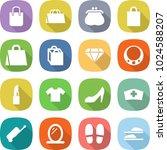 flat vector icon set   shopping ... | Shutterstock .eps vector #1024588207