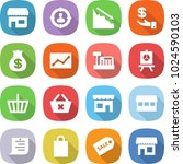 flat vector icon set   shop... | Shutterstock .eps vector #1024590103