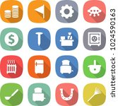flat vector icon set   coin... | Shutterstock .eps vector #1024590163