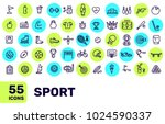 vector creative thin line sport ... | Shutterstock .eps vector #1024590337