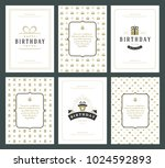 happy birthday greeting cards... | Shutterstock .eps vector #1024592893