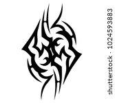 tattoo tribal vector design. | Shutterstock .eps vector #1024593883