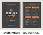 sushi restaurant menu design... | Shutterstock .eps vector #1024594237