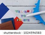 travel time   colorful wooden... | Shutterstock . vector #1024596583
