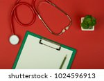 doctor workplace   red... | Shutterstock . vector #1024596913