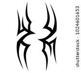 tattoo tribal vector design. | Shutterstock .eps vector #1024601653