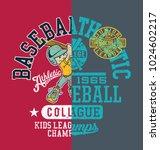 baseball kids college league... | Shutterstock .eps vector #1024602217