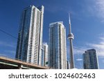 toronto on   oct 20  downtown...   Shutterstock . vector #1024602463