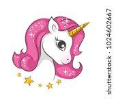 cute magical unicorn. vector...   Shutterstock .eps vector #1024602667